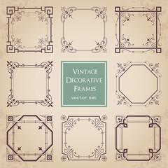 Vintage decorative frames - set 1