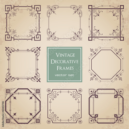 Vintage decorative frames - set 1