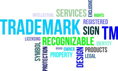 word cloud - trademark