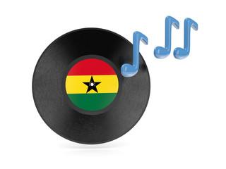 Vinyl disk with flag of ghana