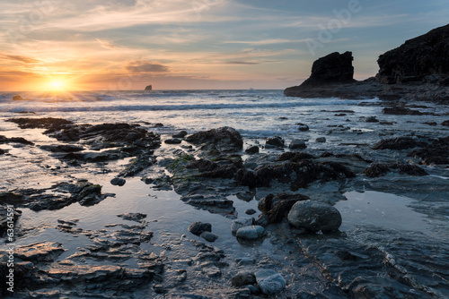 Sunset at a Rocky Cove