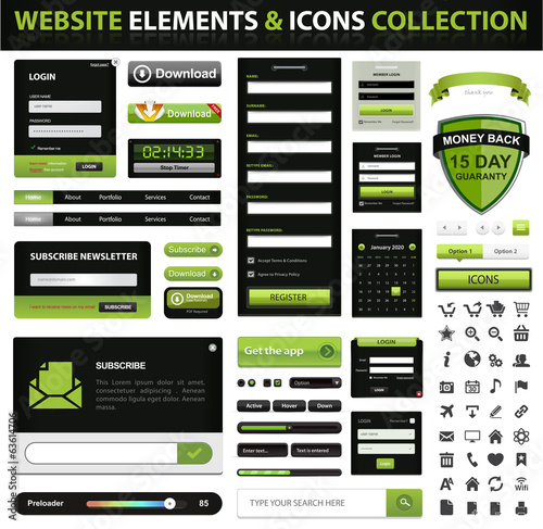 Web Design Element and icons