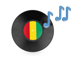 Vinyl disk with flag of guinea