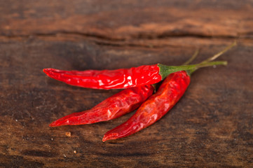 dry red chili peppers