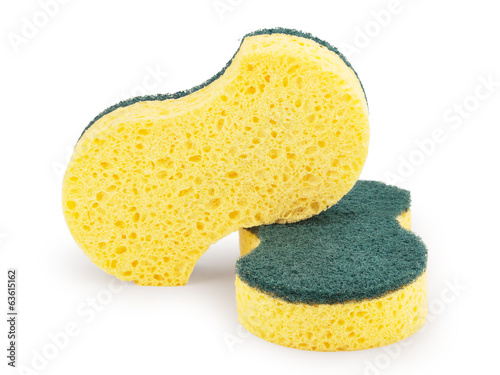 cleaning sponges isolated