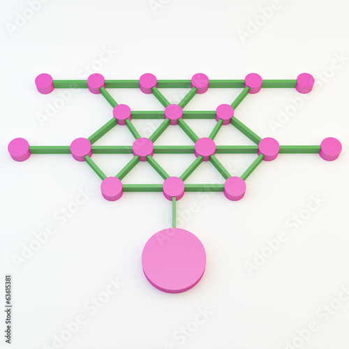 Abstract color connection network