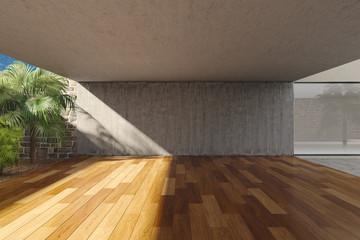 Empty modern terrace