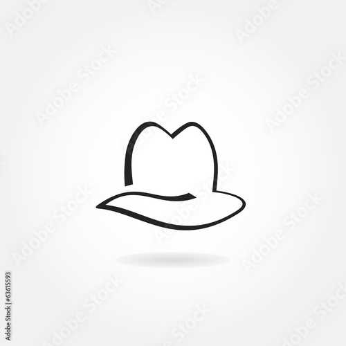 Minimalistic hat icon