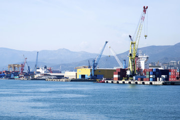 Cargo terminal in the Port of Genoa