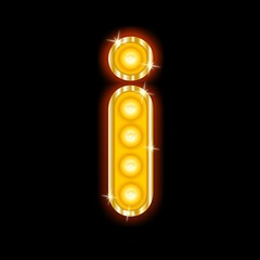 Light Bulb Letters i