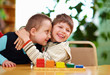 happy kids with disabilities in preschool - 63615993