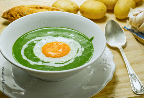 Nettle cream soup.
