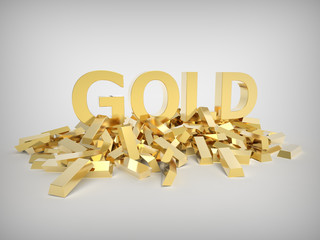 Gold with gold bars