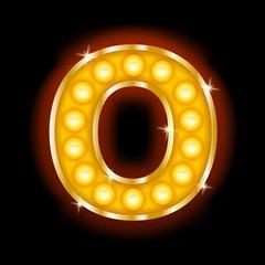 Light Bulb Letters O