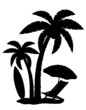 silhouette of palm trees vector illustration - 63616301