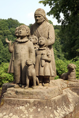 Monument Grandma with children. Czech Republic