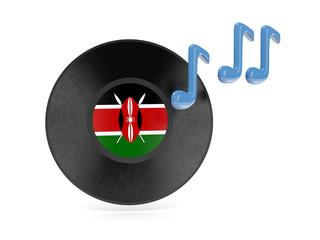 Vinyl disk with flag of kenya