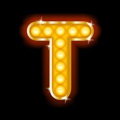 Light Bulb Letters T