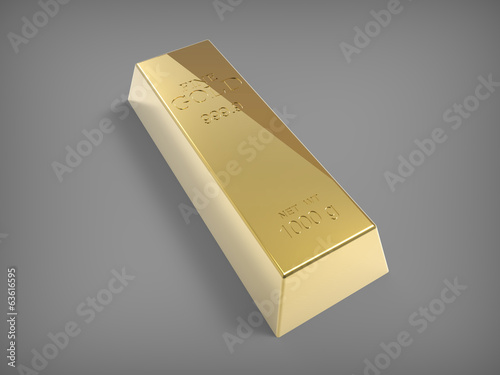 Gold bar on grey back
