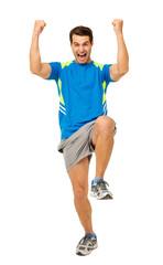 Cheerful Man Celebrating Success