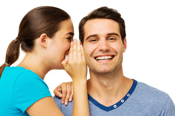 Woman Sharing Secret With Man