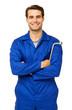 Confident Male Mechanic Holding Wrench