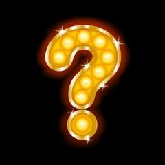 Light Bulb Letters Symbols Question Mark