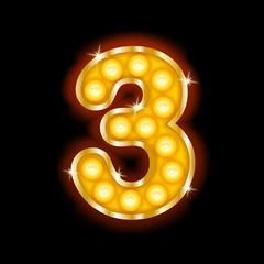 Light Bulb Letters number 3