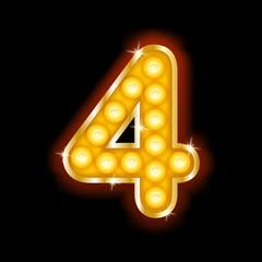 Light Bulb Letters number 4