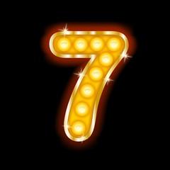 Light Bulb Letters number 7