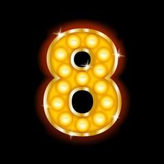 Light Bulb Letters number 8