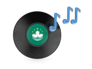 Vinyl disk with flag of macao