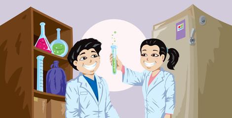 Kiddies doing science