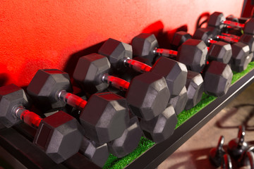 Dumbbells and Kettlebells weight training gym