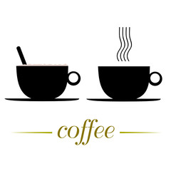 cup of coffee vector illustration on a white