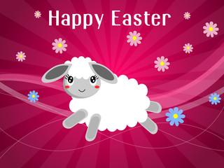 Cartolina d'auguri di buona Pasqua con agnello