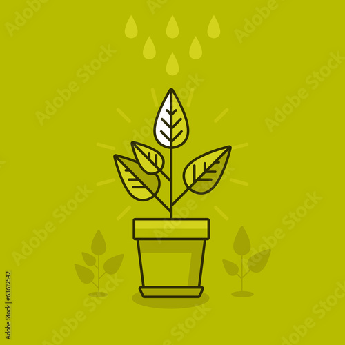 Vector abstract growth concept
