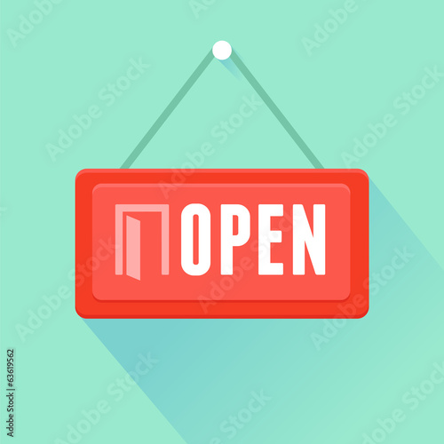 Vector open door sign