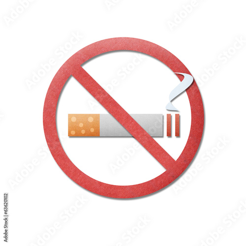 paper cut pattern of no smoking is icon sign to smoke stop