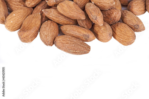 fresh almonds isolated