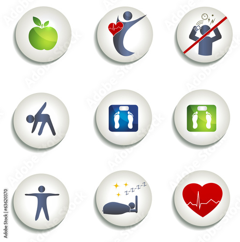 Normal weight, healthy eating and other icons