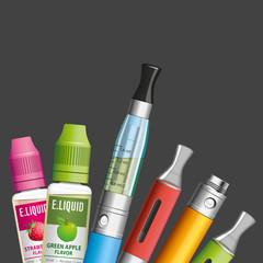 E-cigarette, e.cigarette, cigarette électronique