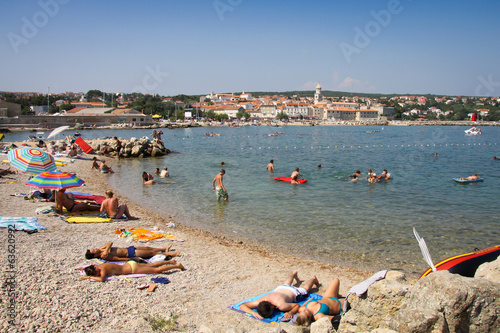 People on the beach, Krk Island