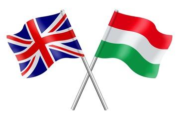 Flags: United Kingdom and Hungary