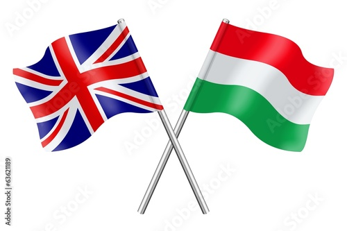 Flags: United Kingdom and Hungary