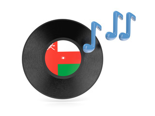 Vinyl disk with flag of oman