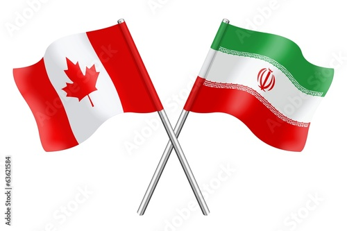 Flags : Canada and Iran