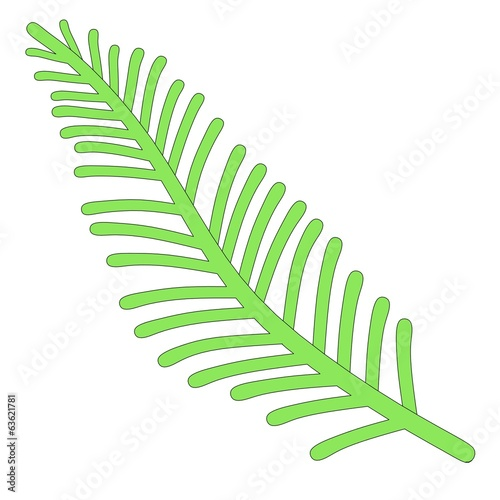 cartoon image of green leaf