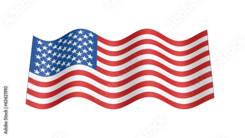 American flag wavy, 3d animation loop
