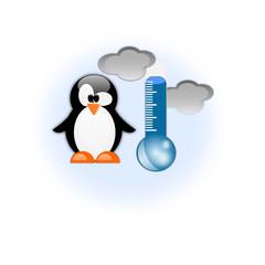 Icona freddo con termometro